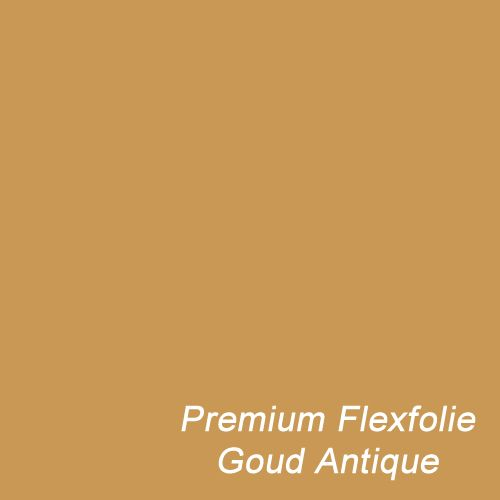 Flexfolie in de warme kleur Antique Goud
