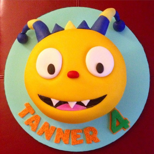 Happy 4th Birthday Tanner! Henry Hugglemonster Mexican Vanilla Cake & BC…