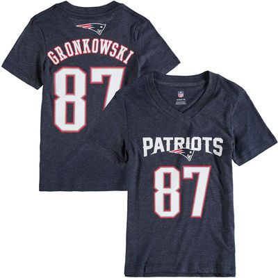 17d314e3 Rob Gronkowski New England Patriots Girl's Youth Tri-Blend Mainliner ...