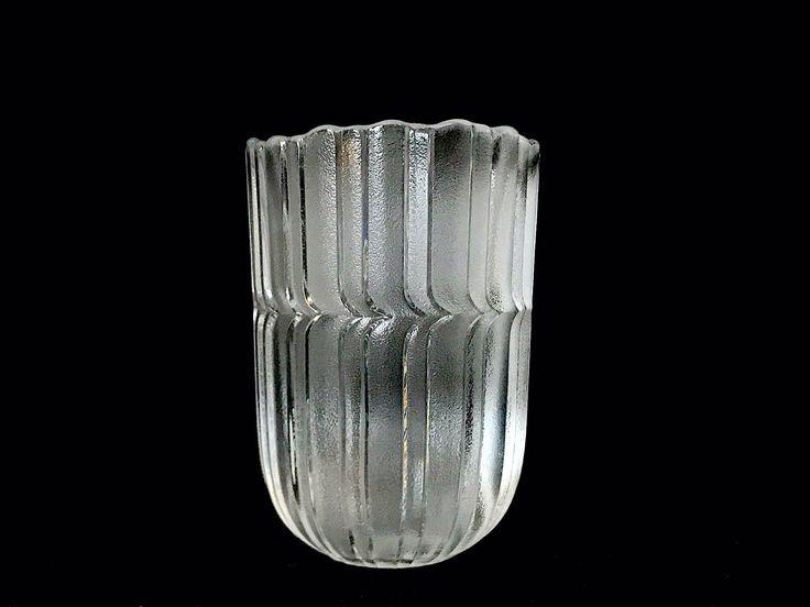 Vintage Mid Century Modern Sculptural Frosted Glass Vase by Rosenthal Studio Linie of Germany Scalloped Modernist Design MCM Designer by SwankyChaperooo on Etsy https://www.etsy.com/listing/510963294/vintage-mid-century-modern-sculptural