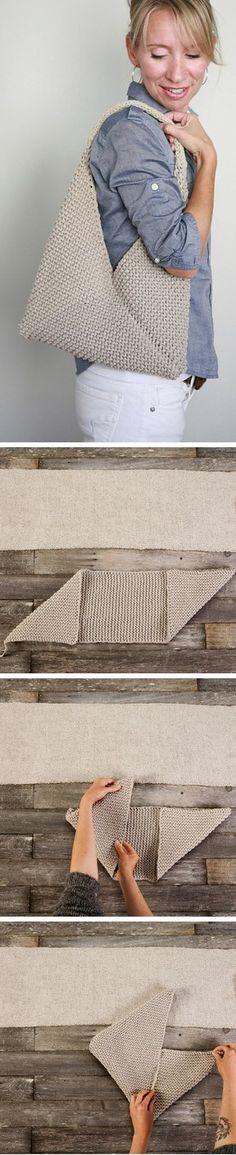Bolsa em Tricô -  /   Pouch Knitting -