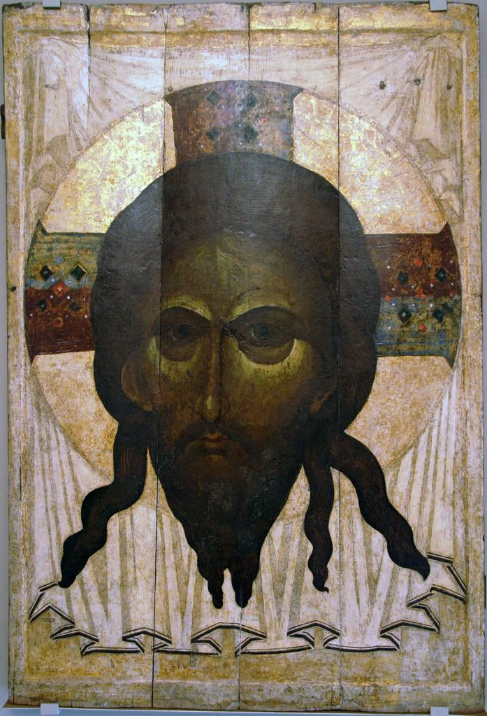 Спас Нерукотворный. Mandylion (Image of Edessa), Third quarter of the 14th century, 164 × 113 cm, The Andrei Rublev Museum of Early Russian Art, Moscow, Russia.