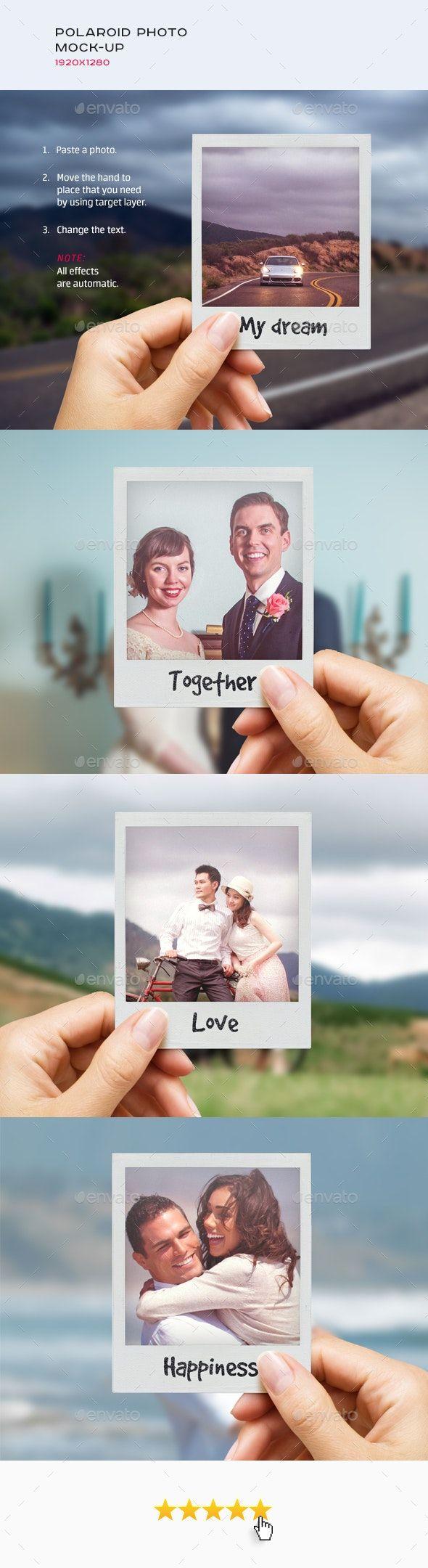 Polaroid Photo Mock Up Fotografi