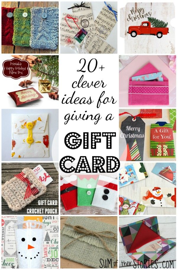 20 Clever Ideas For Giving A Gift Card Diy Gift Card Gift Card