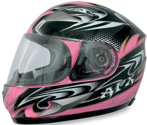AFX FX-90 W-Dare Helmet , Size: Md, Primary Color: Pink, Distinct Name: Pink W-Dare, Helmet Type: Full-face Helmets, Helmet Category: Street, Gender: Mens/Unisex 0101-5786. Lightweight composite poly-alloy shell. Fully removeable liner and cheek pads. Flu
