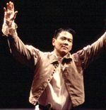 7 (A) Here is a photo of Joel de la Fuente as Iago in the NATCO's production of Othello.