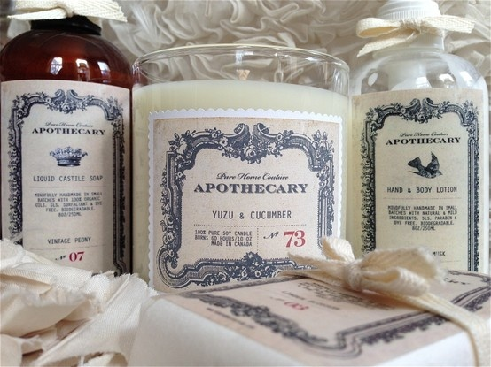 Pure Home Couture Apothecary products...