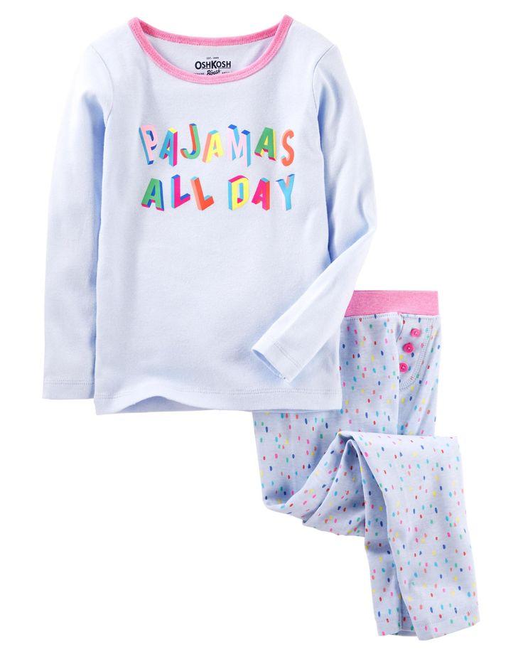 Kid Girl 2-Piece Snug Fit Cotton PJs   OshKosh.com