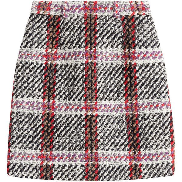 Carven Skirt found on Polyvore featuring skirts, multicolor, zipper skirt, checkerboard skirt, colorful skirts, structured a line skirt and multi color skirt