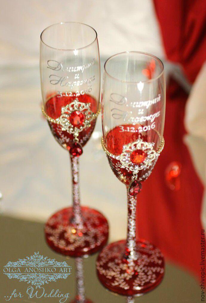 """Купить Свадебные бокалы """"Royal Wedding"""". Роспись. - свадебные бокалы, свадебные аксессуары, все для свадьбы"""