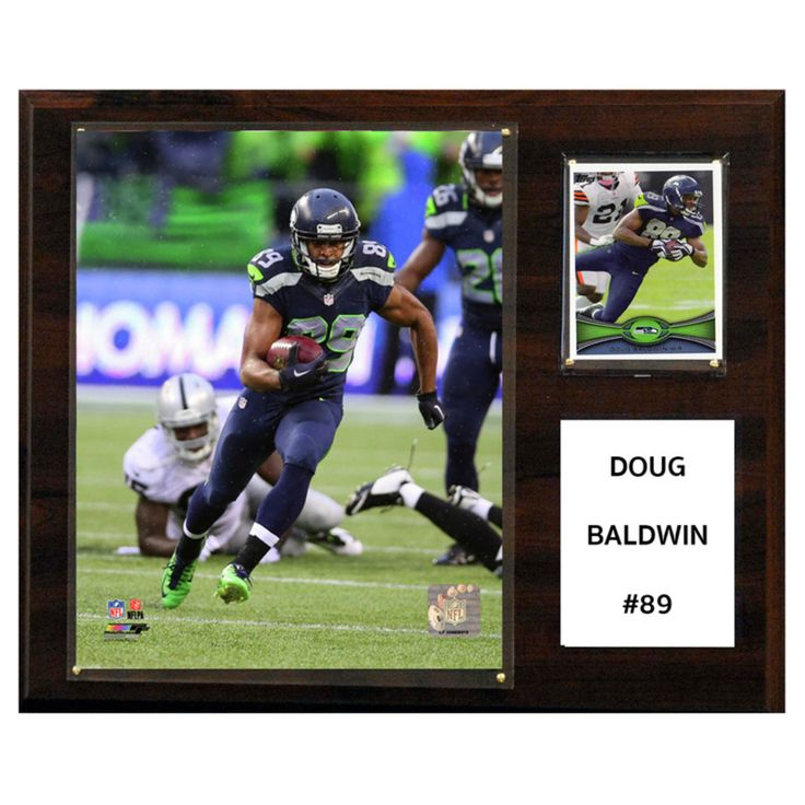 C and I Collectables NFL 15W x 12H in. Doug Baldwin Seattle Seahawks Player Plaque - 1215DBALDWIN