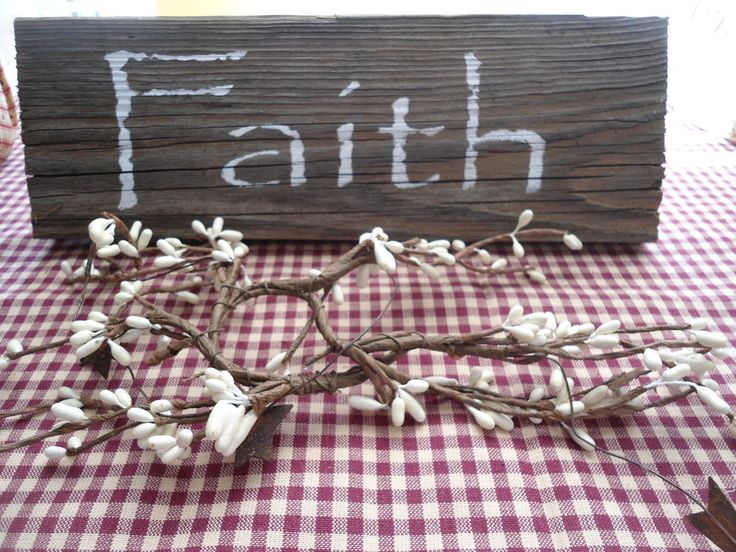 Rustic Old Barn Wood Faith Sign Country Decor | Home & Garden, Home Décor, Plaques & Signs | eBay!