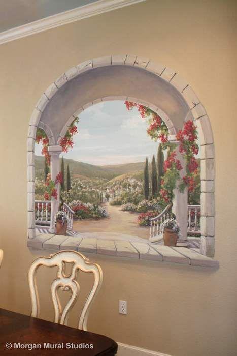 Trompe L_Oeil Dining Room Mural