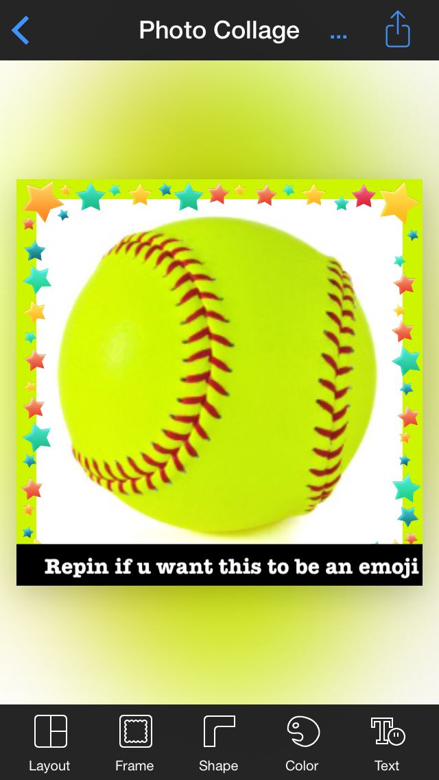 Repin if u want a softball emoji
