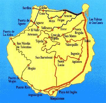Reizen door Gran Canaria - Touristische routes door Gran Canaria