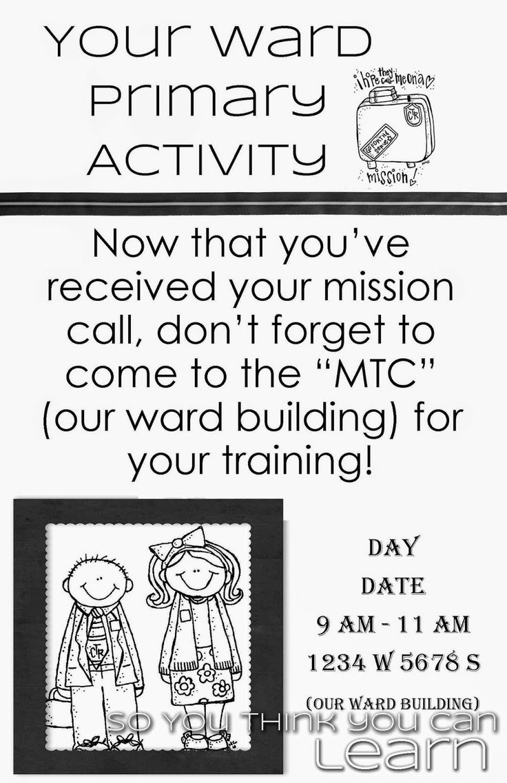 Primary Activity - Missionary Training Center - Getting Ready by So You Think You Can Learn