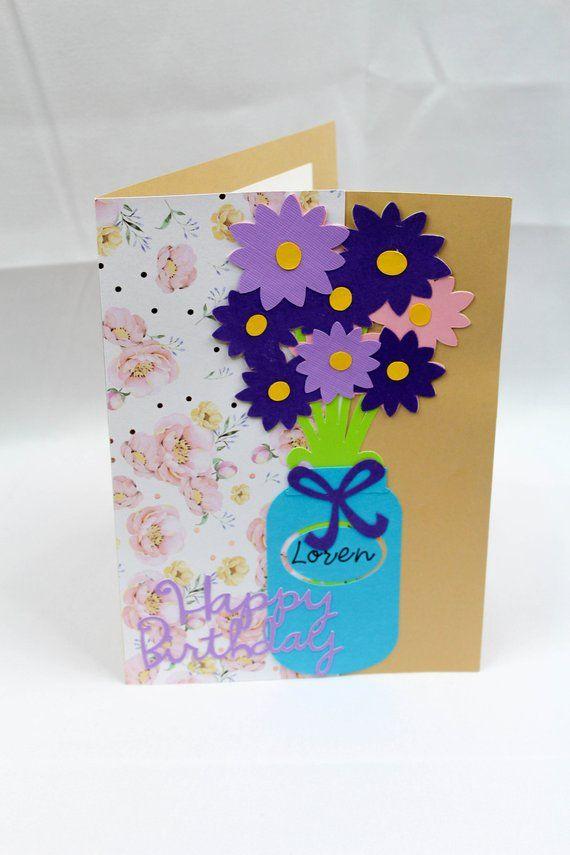 Birthday Card For Her Best Friend Mason Jar