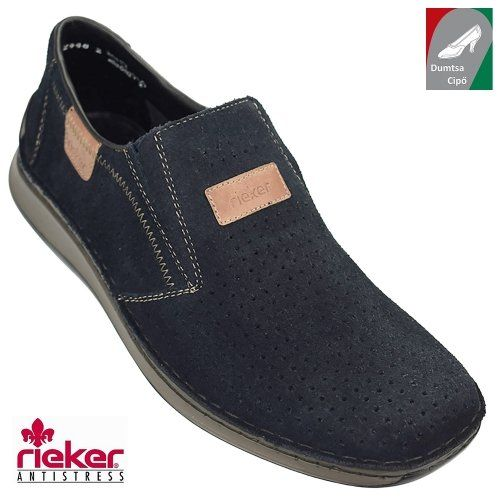 Rieker férfi bőr cipő 05265-14 sötétkék