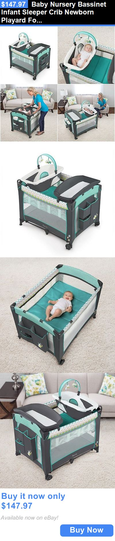 Baby Nursery: Baby Nursery Bassinet Infant Sleeper Crib Newborn Playard Folding Changing Table BUY IT NOW ONLY: $147.97