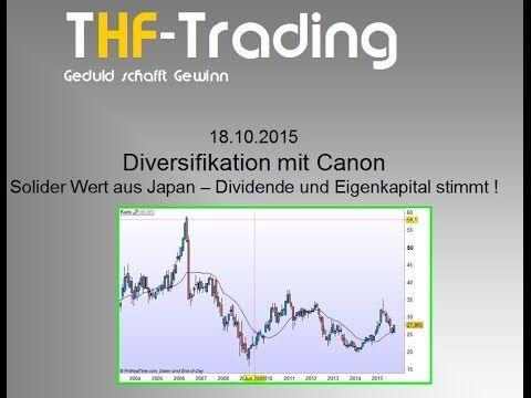 Canon Aktie - Diversifikation aus Japan (3% Dividende und 66% Eigenkapital)