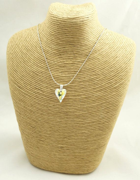 Swarovski Crystal Necklace Swarovski Drop by Makewithlovecrafts