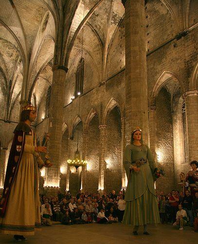 Jaume I i Violant, Sta Mª del Mar, Ball dels Gegants, Barcelona, Catalonia