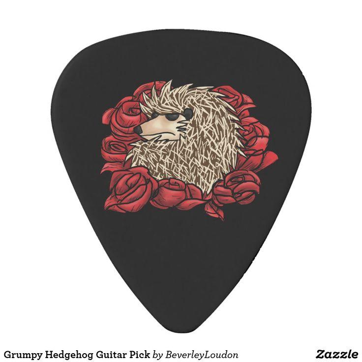 Grumpy Hedgehog Guitar Pick