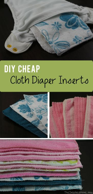 DIY Cheap Cloth Diaper Inserts. These are only good in pocket diapers, unless you top them with microfleece for a safe, stay-dry, layer.