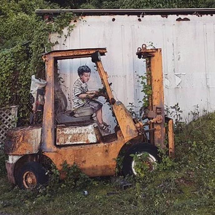 An Old Forklift And Just A Touch Of Graffiti Art Ftw