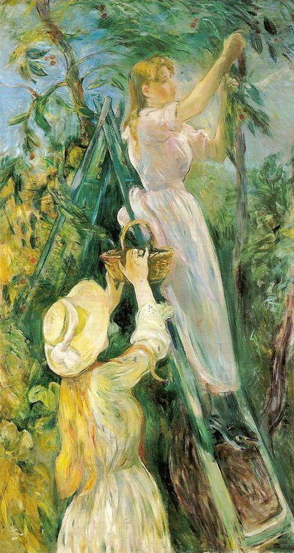 """Berthe Morisot, """" Le cerisier """""""