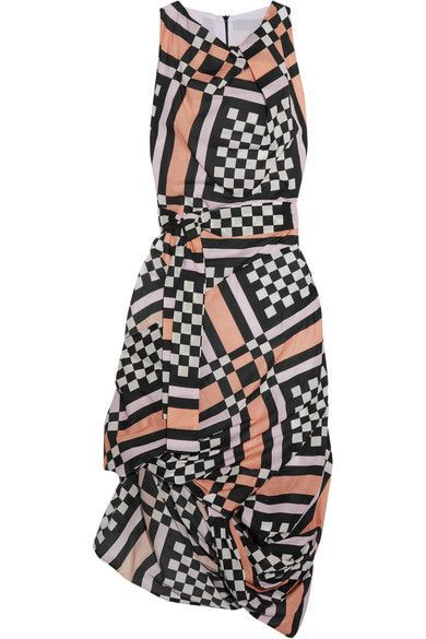 Vivienne Westwood Anglomania - Eight Draped Printed Cotton-voile Midi Dress - Pink - IT