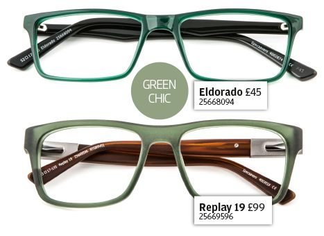 Get the look - green chic specs