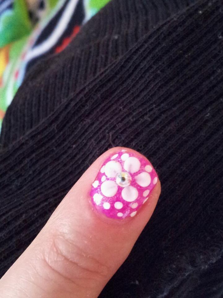 pink 3d nail