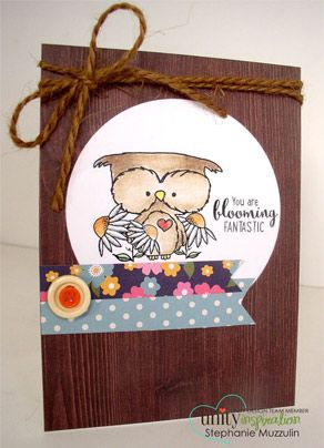 Lil Bloomin Owl Createdy by Lisa Arana for Unity Stamp Co