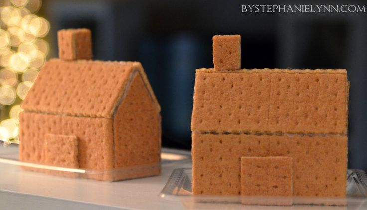 Under The Table and Dreaming: How to Make Glued Graham Cracker Gingerbread Houses: hot glue!