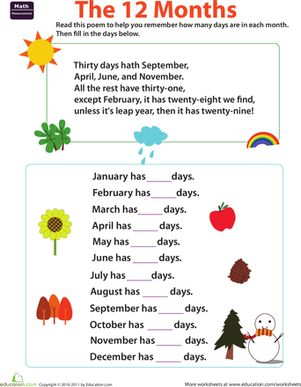 how to remember which months have 30 days
