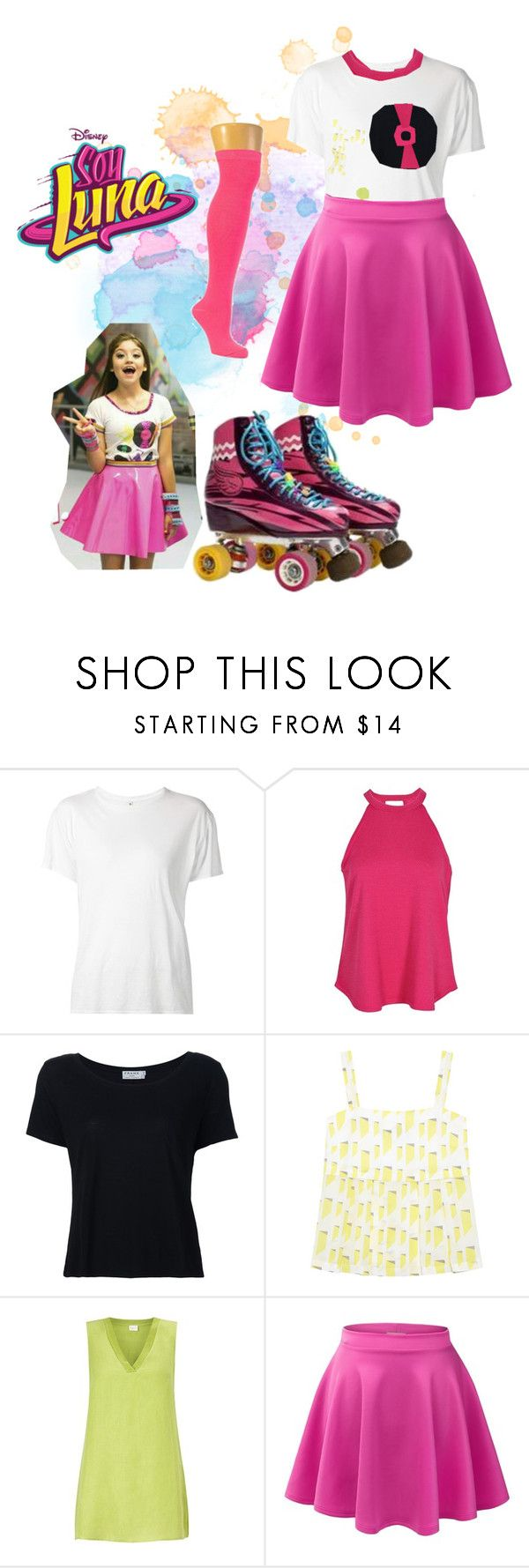 """""""soy luna"""" by maria-cmxiv on Polyvore featuring R13, Boohoo, Frame Denim, Antipodium, EAST and LE3NO"""