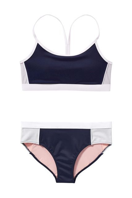 Head straight to the volleyball court in this sporty two-piece.Joe Fresh Sport Bikini Top, $24, available at Joe Fresh; Joe Fresh Sport Bikini Bottom, $24, available at Joe Fresh. #refinery29 http://www.refinery29.com/cheap-swimsuits#slide-2