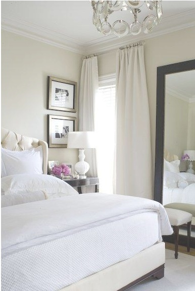 all white/cream bedroom