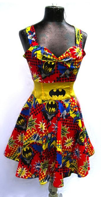 Incredible Batman Rockabilly Dress... ok she might like it but its mostly for me