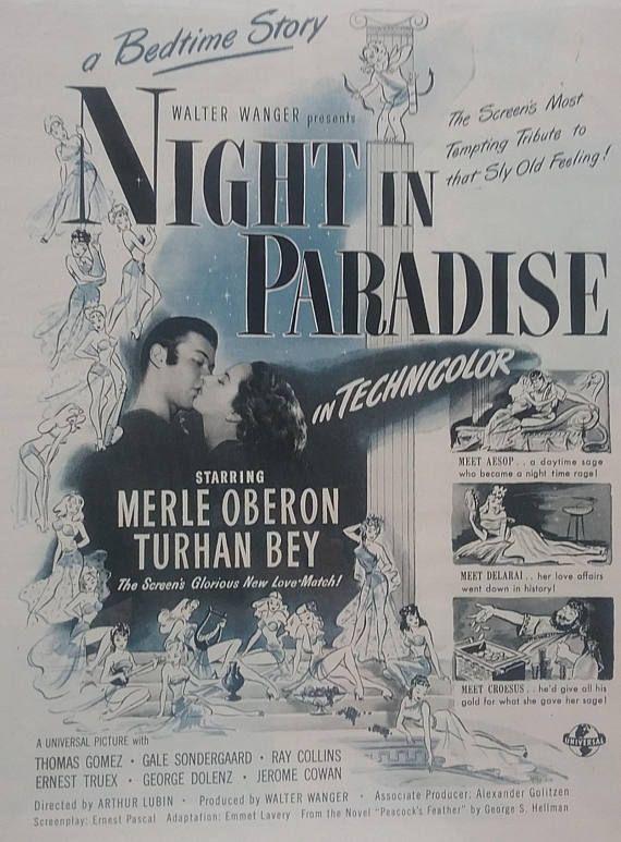 Vintage Movie Ad Night in Paradise Vintage Paper