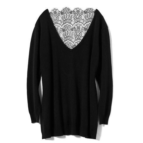 Black Luxury Cashmere Pullover  #AkikoOgawa. #Lingerie #2016AW #CASHMERE&COMFORT www.aolingerie.com