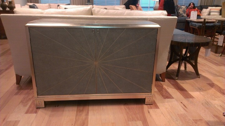 Fabulous Shagreen and Silver Leaf cabinet at Pearson #hpmkt
