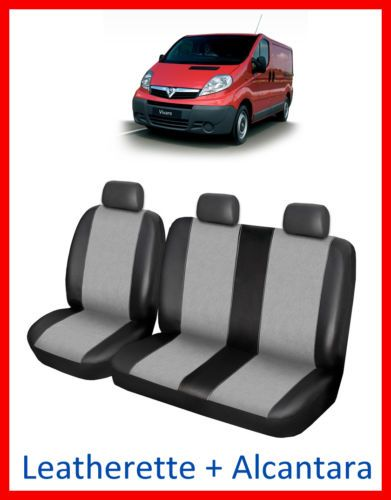 Tailored Seat Covers For Vauxhall Vivaro Leatherette Alcantara