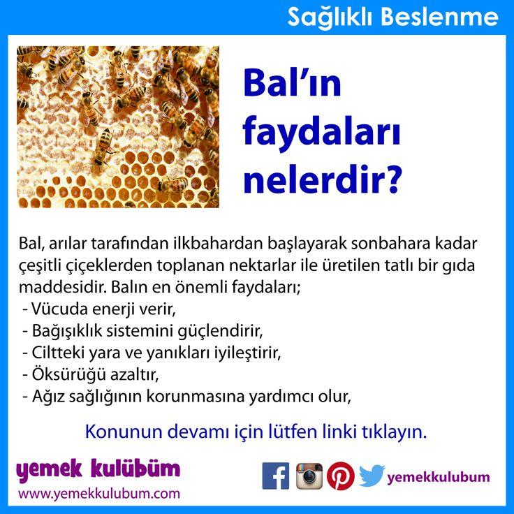 BESLENME : Balın faydaları nelerdir? http://yemekkulubum.com/icerik_sayfa/balin-faydalari-nelerdir