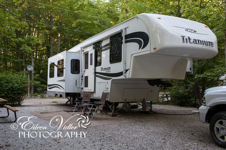 Our 2008 Titanium 33E38TS at Summer House Campground, Miller Lake, ON  © Eileen Vidler Photography