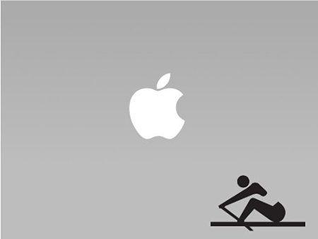 Stick Figure Rowing Vinyl Macbook / Laptop Decal Sticker Graphic