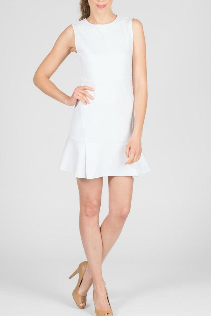 Ellelauri's caroline dress comes in classic white! This dress can be worn during spring and summer; you can pair it with a colorful statement necklace or just dress it down with silver and gold. Make sure you bring this dress to your local dry cleaners. Caroline Dress White by ellelauri. Clothing - Dresses - Casual Philadelphia, Pennsylvania