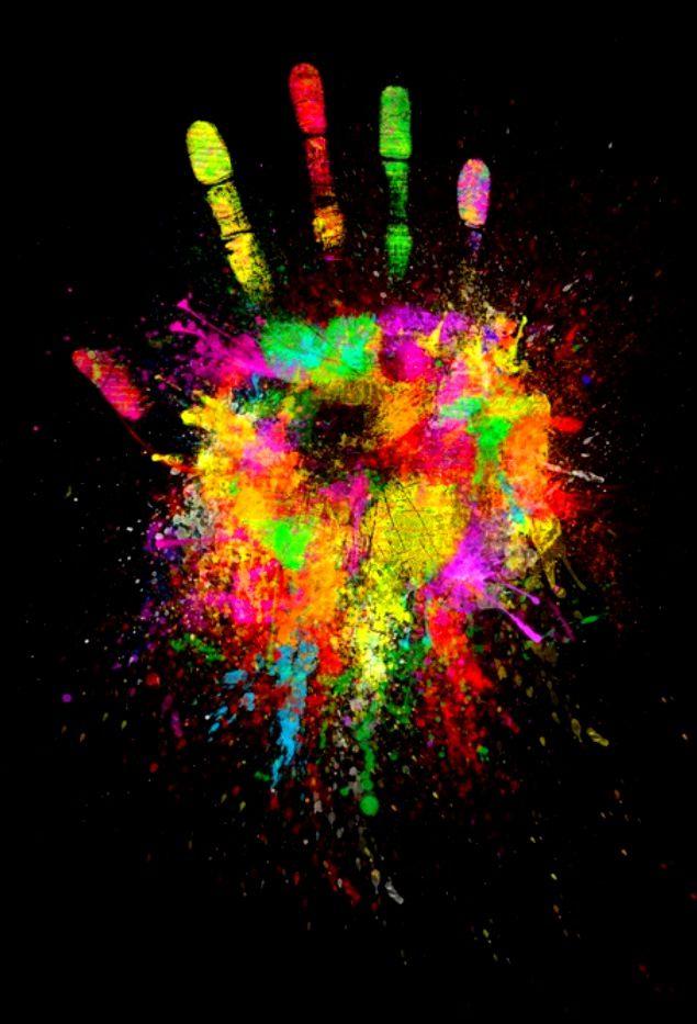 Rainbow hand color pop