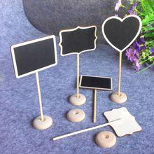 12 pz rettangolo forma di cuore lavagne legno lavagna tabellone decorazione festa nuziale tavolo numero di messaggio tag(China (Mainland))